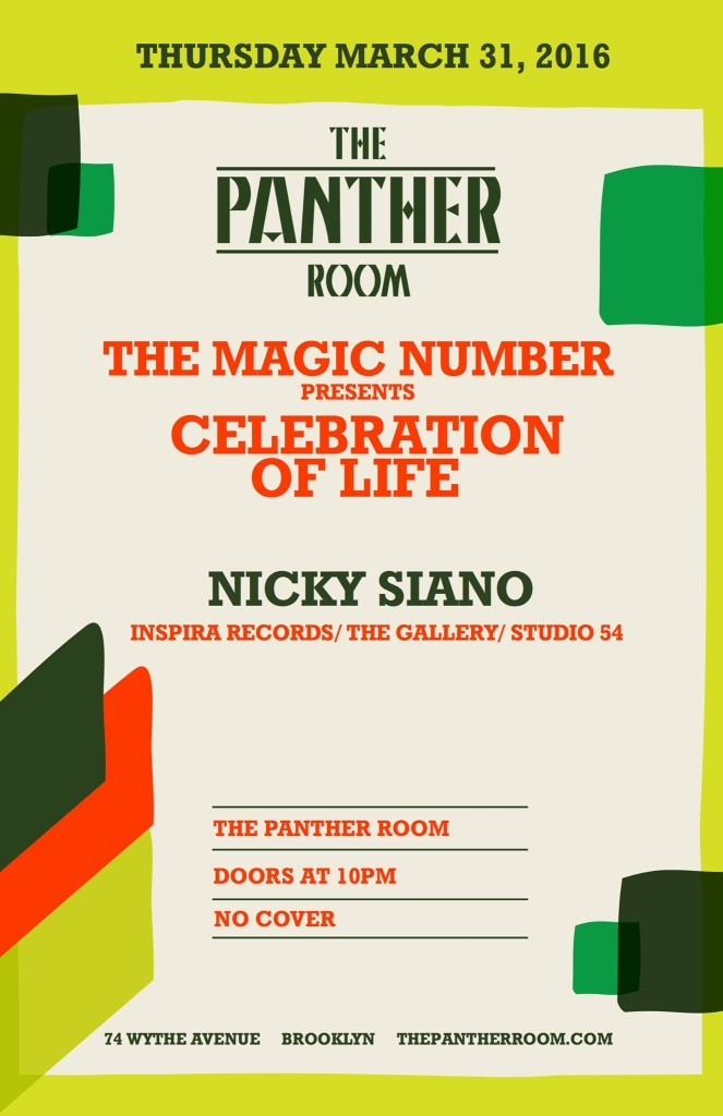 The Magic Number Presents Celebration Of Life Nicky Siano